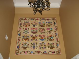 Entry walll quilt
